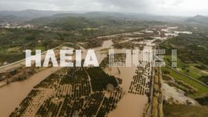Καιρός: Ψηλά η στάθμη του Αλφειού – Πλημμύρισε όλος ο κάμπος – video