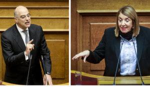 """Βουλή: """"Σκοτωμός"""" Δένδια – Χριστοδουλοπούλου – """"Η ΝΔ συντονίζει τις επιθέσεις εναντίον βουλευτών"""""""