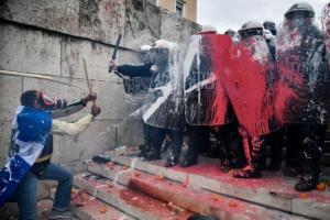 Τι υποστηρίζει το υπουργείο Προστασίας του Πολίτη για τα επεισόδια στο συλλαλητήριο