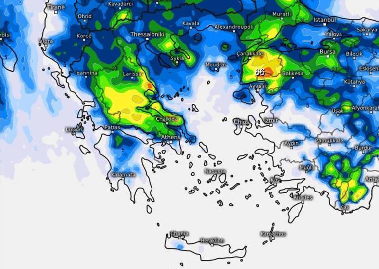 Καιρός: Που θα χιονίσει τις επόμενες ώρες [χάρτης]