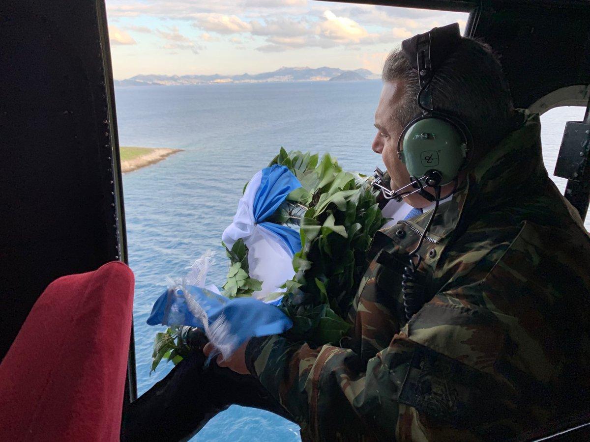 Από τα Ίμια είπε αντίο στο Υπουργείο Αμυνας ο Πάνος Καμμένος!