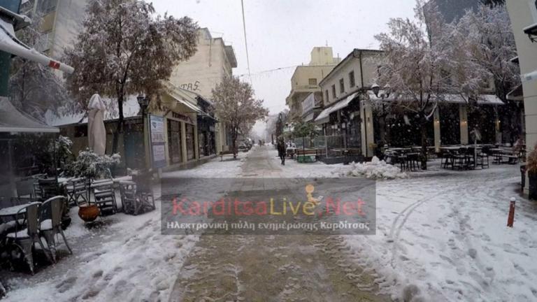Καιρός: Στα λευκά ο νομός Καρδίτσας – video | Newsit.gr