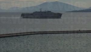 Στο λιμάνι του Βόλου το αμερικανικό, πολεμικό καταμαράν USNS Carson City