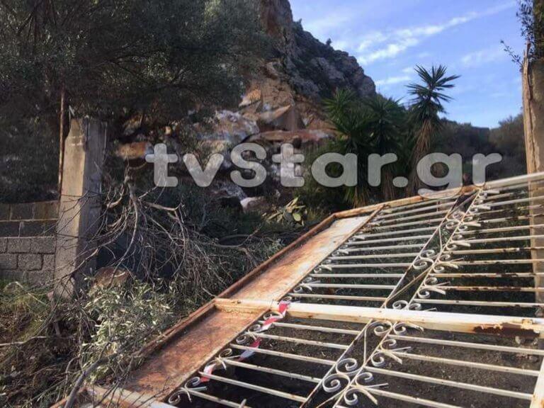 Βοιωτία: Κατολίσθηση στην Αλυκή – Τεράστιοι βράχοι έφτασαν μέχρι τα πρώτα σπίτια του χωριού [pics]