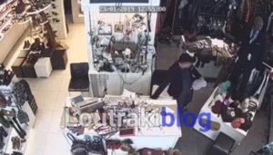 Λουτράκι: Κλοπή μπροστά στην κάμερα – video