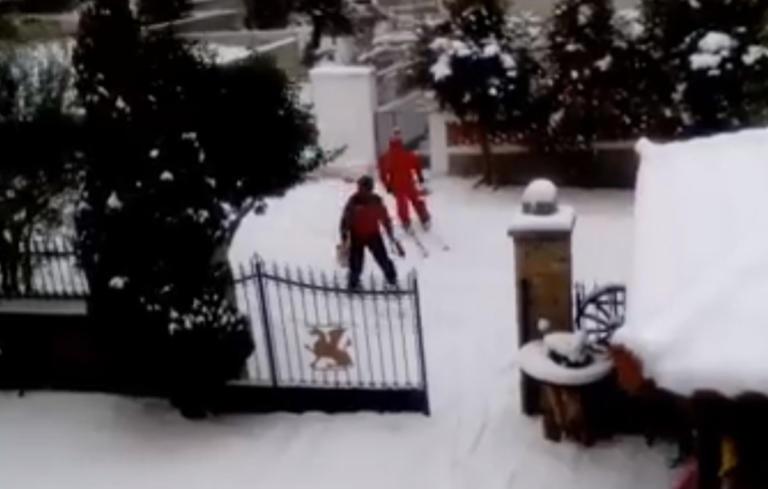Κοζάνη: Πήγαν για ψώνια… κάνοντας σκι! – video