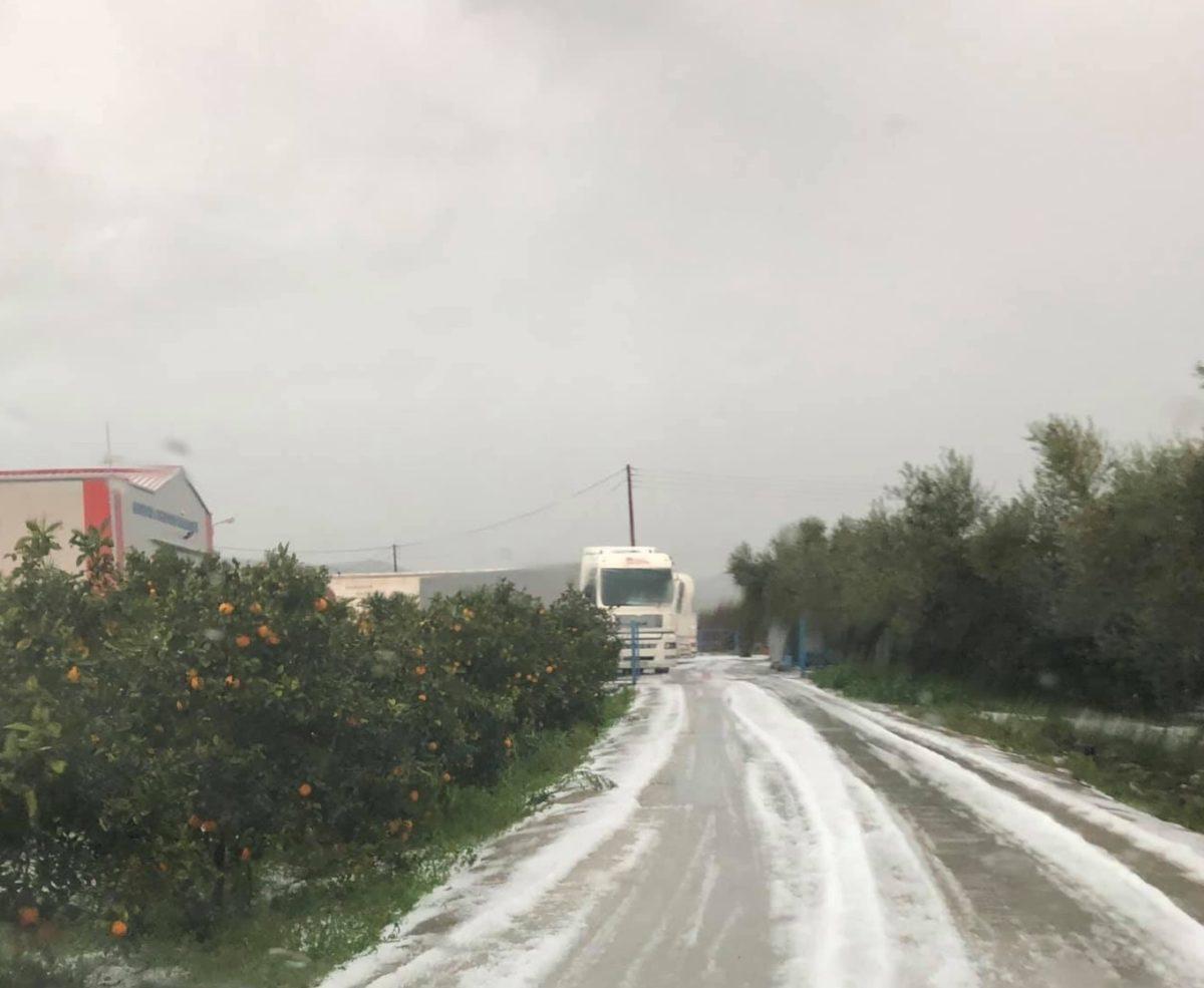 Αποτέλεσμα εικόνας για Καταστροφή από χαλάζι στις καλλιέργιες στη Θήβα (Εικόνες)