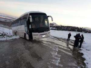 Φάρσαλα: Η εικόνα μετά τη λαχτάρα των μαθητών – Εδώ σταμάτησε το λεωφορείο που τους πήγαινε σχολείο [pic]
