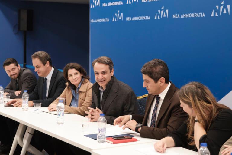 Σύσκεψη με τους νέους Γραμματείς της ΝΔ πραγματοποίησε ο Μητσοτάκης   Newsit.gr