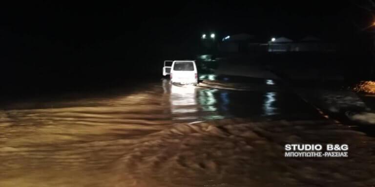 Άργος: Οδηγός εγκλωβίστηκε σε κοίτη ποταμού – video | Newsit.gr