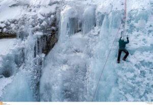Σέρρες: Αναρρίχηση στον πάγο – Εικόνες που καθηλώνουν στο δάσος του Λαϊλιά [pics]