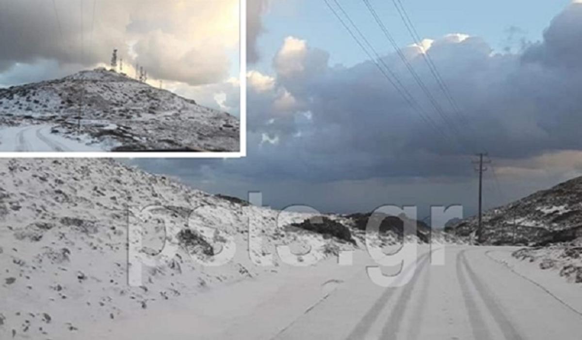 Πάρος: Παραμυθένιο σκηνικό με χιόνια – Λευκά τοπία στο νησί μετά από χρόνια – video