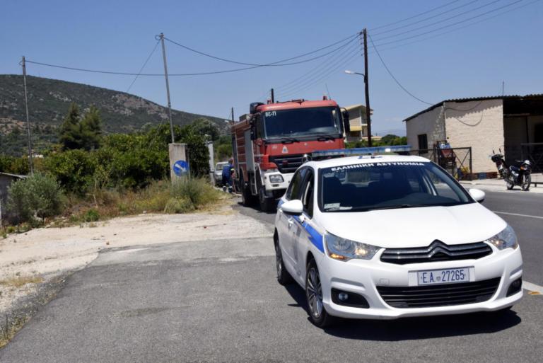 Περιπολικό στις φλόγες στην Αττική Οδό | Newsit.gr