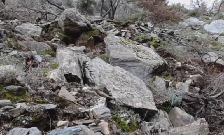 """Λέσβος: """"Έβρεχε"""" βράχους στο Πλωμάρι – Οι κατολισθήσεις έκλεισαν δρόμους και ξερίζωσαν δέντρα – video"""