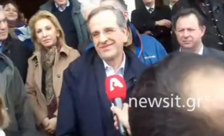 Συλλαλητήριο Μακεδονία: Αντώνης Σαμαράς… παρών – video | Newsit.gr