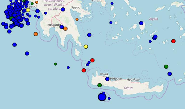 Σεισμός στα Χανιά – Τι καταγράφουν τώρα οι σεισμογράφοι