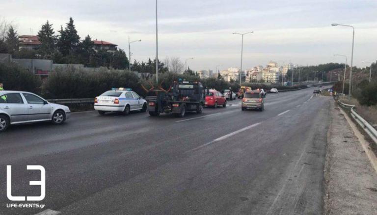 Καραμπόλα 15 αυτοκινήτων στη Θεσσαλονίκη – Κυκλοφοριακό χάος στην περιφερειακή