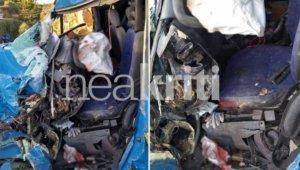Κρήτη: Σκληρές εικόνες σε τροχαίο με νεκρό οδηγό – Υπάλληλος του ΟΤΕ ξεψύχησε εγκλωβισμένος [pics]