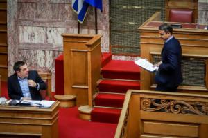 Καβγάς με βαριές εκφράσεις ανάμεσα σε Τσίπρα – Μητσοτάκη για την υπουργοποίηση Αποστολάκη