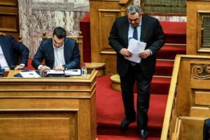 """Συμφωνία των Πρεσπών: """"Κοινοβουλευτικό πραξικόπημα"""" λέει ο Καμμένος στον Βούτση!"""