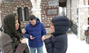 Αλέξης Τσίπρας: Βόλτα στα χιόνια με τη Μπέτυ Μπαζιάνα και την Όλγα Γεροβασίλη [pics]
