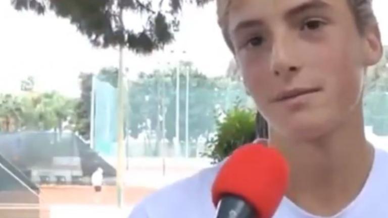 Τσιτσιπάς: Όταν ο 10χρονος Στέφανος μιλούσε για το είδωλο του, Ρότζερ Φέντερερ – video