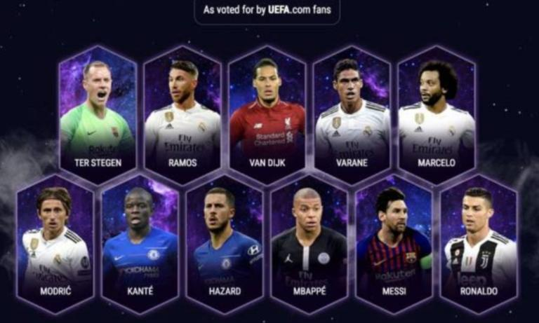 UEFA: Αυτή είναι η καλύτερη ενδεκάδα του 2018 [pic]