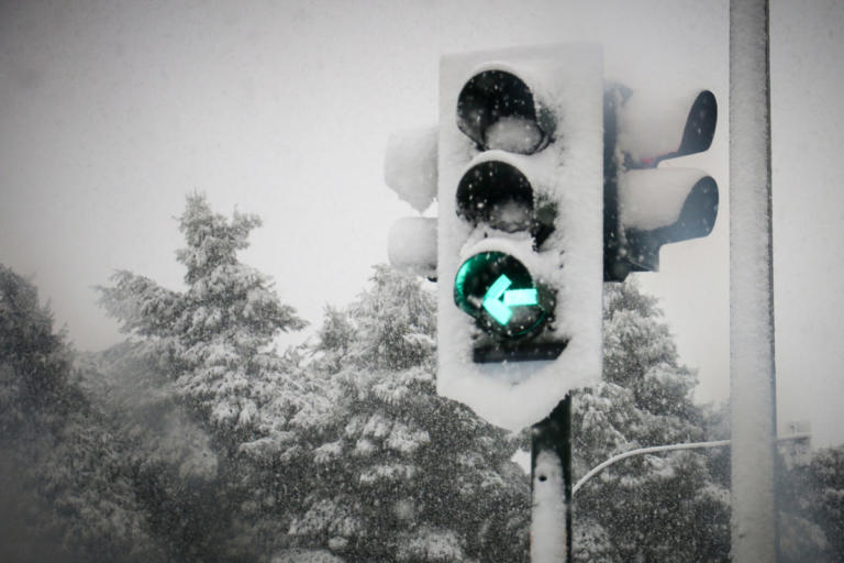 Καιρός: Προβλήματα και μοναδικές εικόνες στα χιόνια – Χωρίς ρεύμα περιοχές στο Πήλιο και τον Βόλο [pics]