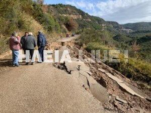 Ηλεία: Η κακοκαιρία εξαφάνισε δρόμους και βούλιαξε σπίτια στα λασπόνερα – Οι εικόνες καταστροφής – video