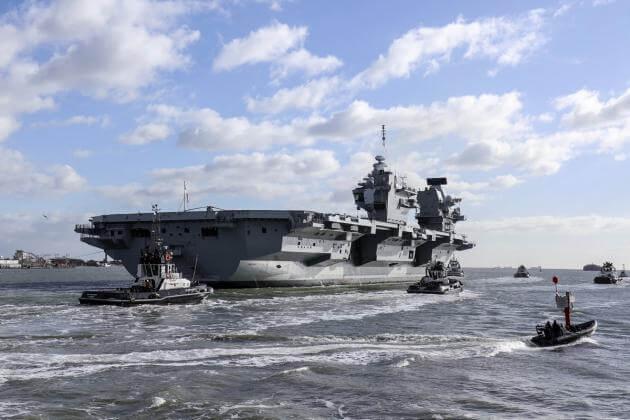 """Επίδειξη ισχύος από το Βρετανικό Ναυτικό με τη """"Βασίλισσα Ελισάβετ"""" στη Μεσόγειο και τον Ειρηνικό!"""