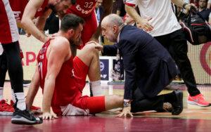 Ολυμπιακός: Ατυχία με Μιλουτίνοφ! Αποχώρησε τραυματίας – video
