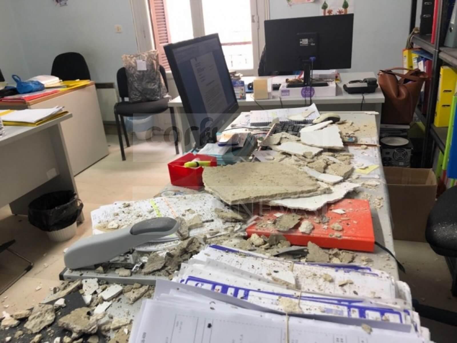 Κέρκυρα: Το ταβάνι ήρθε… στο κεφάλι εργαζόμενης
