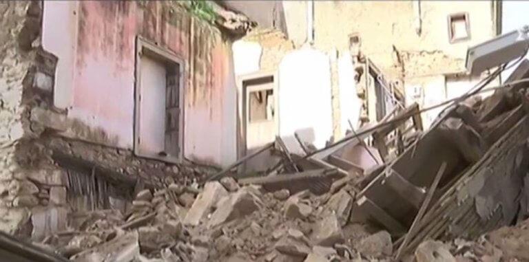 Κατέρρευσε σπίτι στην Πνύκα – Τρόμος στη γειτονιά