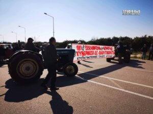 Οι αγρότες της Αργολίδας Απέκλεισαν την Ε.Ο. Ναυπλίου – Μυκηνών [pics]