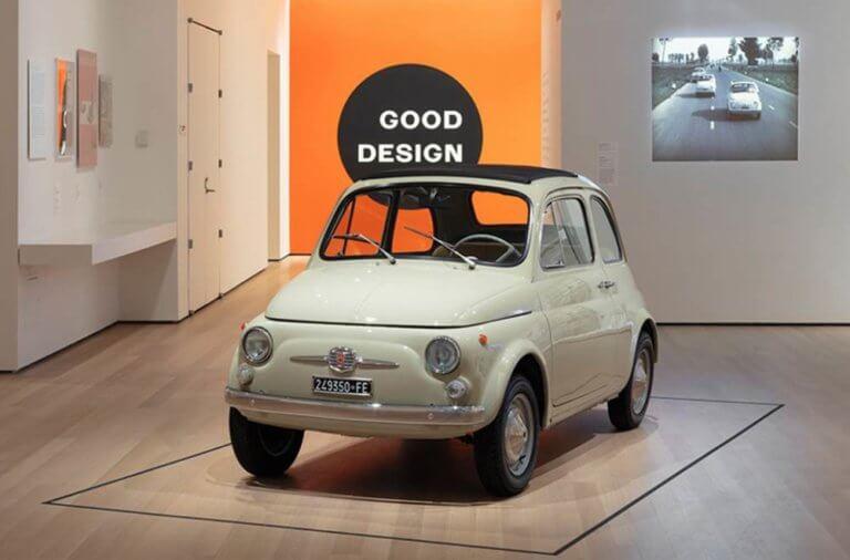 To FIAT 500 στο Μουσείο Μοντέρνας Τέχνης στη Νέα Υόρκη