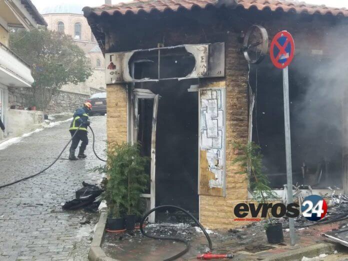 Έβρος: Γραφείο κηδειών έγινε στάχτη – Ολική καταστροφή για τον ιδιοκτήτη του [pics, video] | Newsit.gr