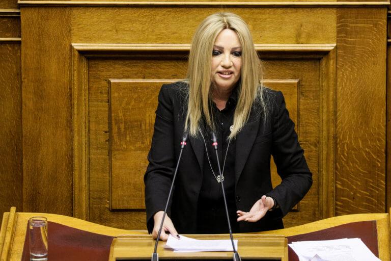 Γεννηματά: Η Ελλάδα δεν μπορεί να προχωρήσει με τη θηλιά στο λαιμό