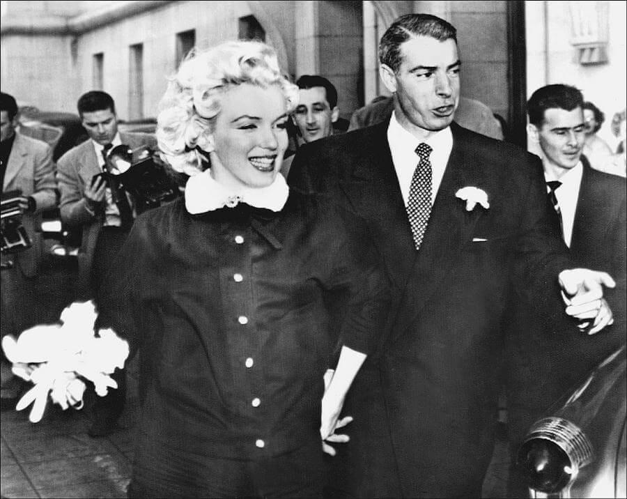 H Μέριλιν Μονρόε Με τον δεύτερο σύζυγό της, αστέρα του μπέιζμπολ, Τζο Ντι Μάτζιο.