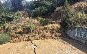 Αχαΐα: Μεγάλη κατολίσθηση στο Καλέντζι – pics
