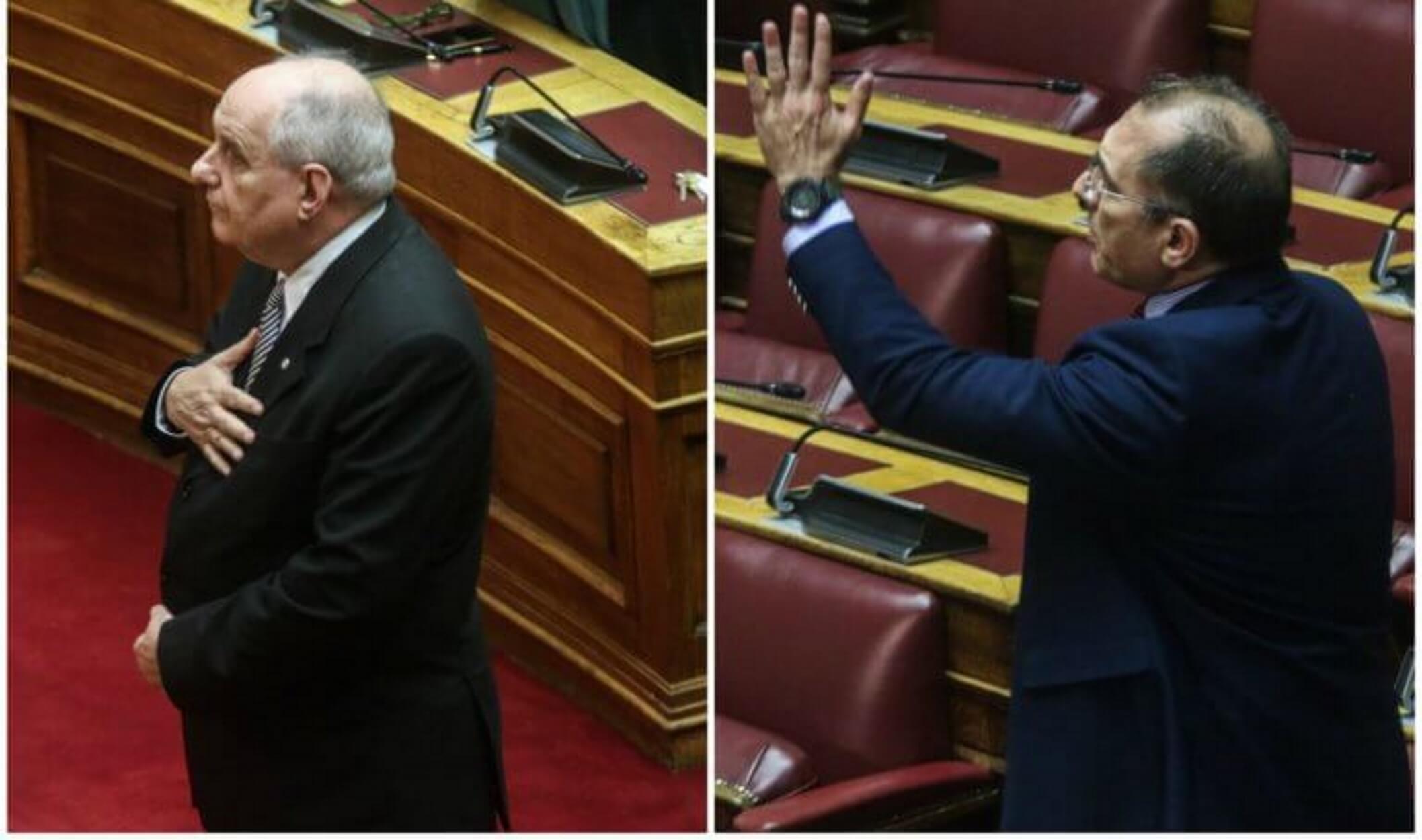 """Νέο """"χοντρό"""" επεισόδιο Καμμένου – Κουΐκ στην Ολομέλεια της Βουλής"""