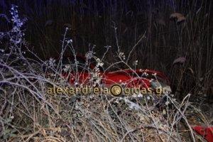Ημαθία: Αυτοκίνητο έπεσε σε κανάλι – Αυτοψία στο σημείο του τροχαίου [pics, video]