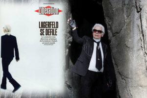 Μόνο η Liberation! «Lagerfeld se défile»