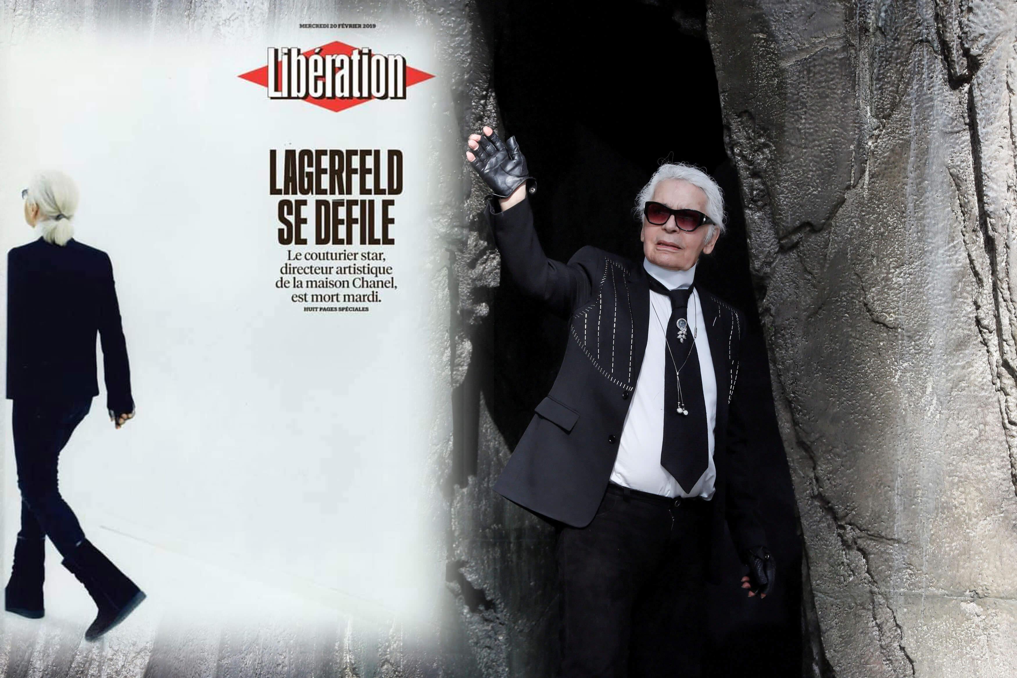 """Μόνο η Liberation! """"Lagerfeld se défile"""""""