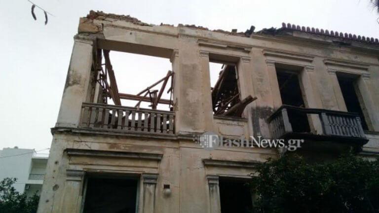 Χανιά: Κατέρρευσε η στέγη νεοκλασικού κτιρίου – Το αποτέλεσμα της αδιαφορίας μέσα από εικόνες [pics] | Newsit.gr