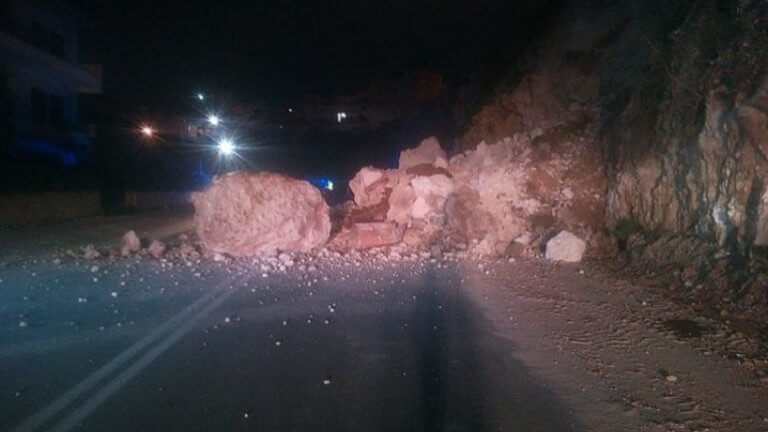 Κρήτη: Επικίνδυνη κατολίσθηση – Θαύμα ότι δεν τραυματίστηκε κανείς!