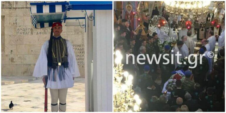 Πάτρα: Ατελείωτη συγκίνηση στην κηδεία του Εύζωνα – Τιμές και δάκρυα για τον Σπύρο Θωμά [pics, video]