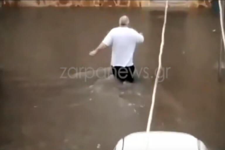 Χανιά: Πλημμύρισε το Κουμ Καπί! Πάνω από μισό μέτρο το νερό – video | Newsit.gr