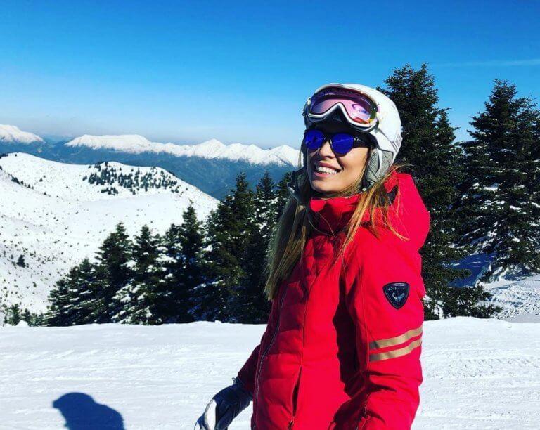 Μαριέττα Χρουσαλά: Χειμερινή εξόρμηση στο Μαίναλο της Αρκαδίας για σκι! [pics]