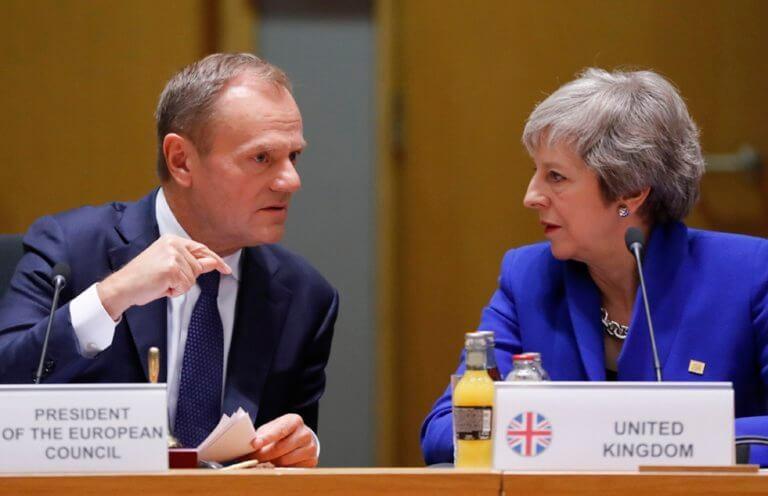 Μέι: Το Brexit θα γίνει στην ώρα του! Απαισιόδοξος για επίτευξη συμφωνίας ο Τουσκ