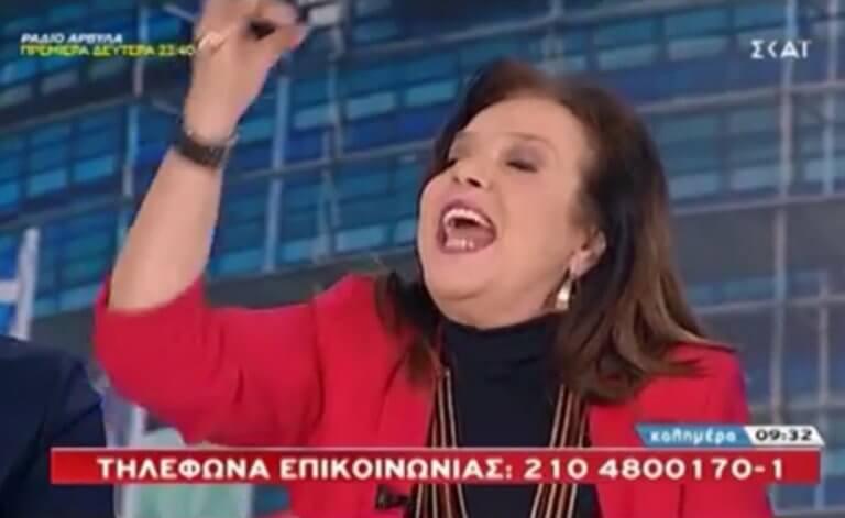«Κόλαση» στον αέρα με την Μεγαλοοικονόμου! Βρισιές, «κουραμπιέδες» και αποχώρηση! video | Newsit.gr